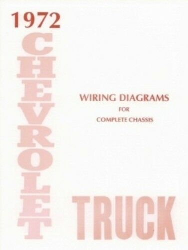 CHEVROLET 1972 Truck Wiring Diagram 72 Chevy Pick Up