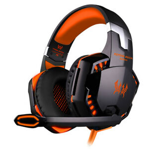 Details about 3 5mm Gaming Headset MIC LED Headphones Surround for PC Mac  Laptop PS4 Xbox One