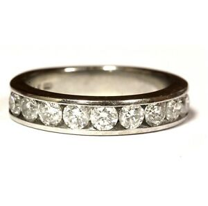 14k-white-gold-90ct-womens-round-diamond-channel-wedding-band-ring-4-1g-estate
