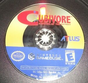 Cubivore-Survival-of-the-Fittest-Nintendo-GameCube-Disc-Only-Rare-Game-Atlus