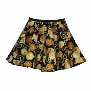 Childs-Father-Time-15-034-SteamPunk-Clockwork-Style-Skater-Skirt-Age-6-12-Years