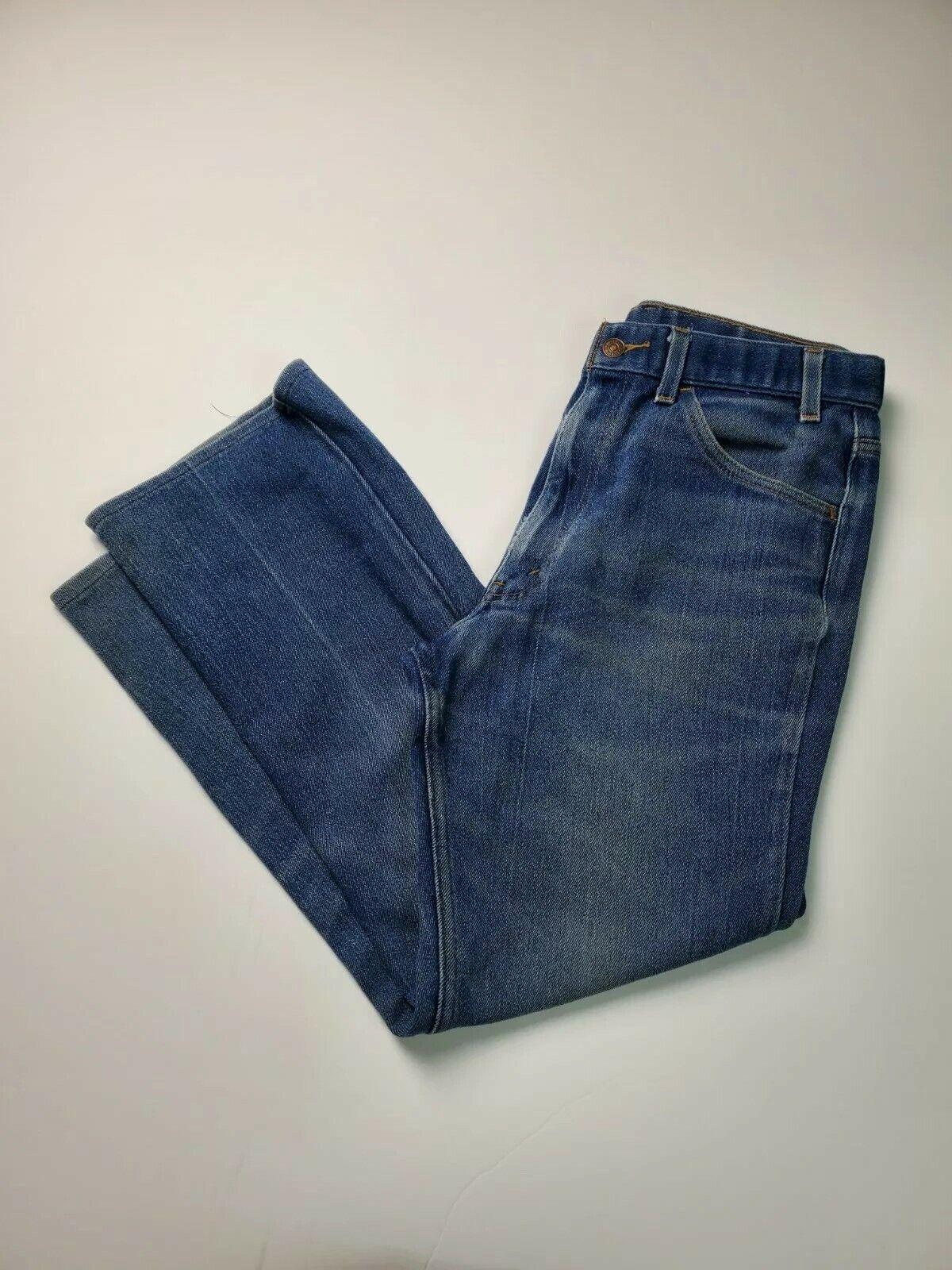 Vintage Levis 547 Mens Orange Tab Jeans Actual Sz… - image 1