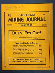 VINTAGE-CALIFORNIA-MINING-JOURNAL-MAY-1967-VOLUME-36-NUMBER-9