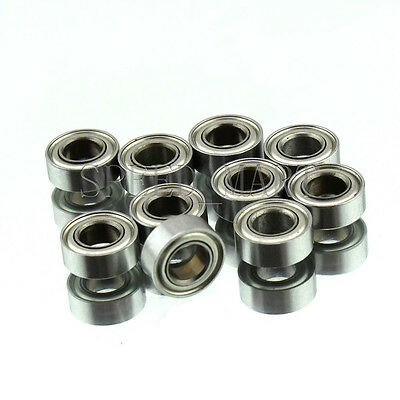 2 PCS MR74zz Mini Metal Double Shielded  Ball Bearings 4mm*7mm*2.5mm