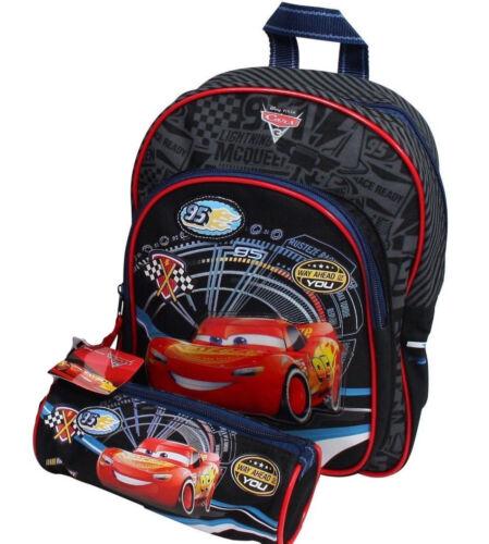 DISNEY CARS Zaino Schlamperrolle Set Bambini da Giardino McQueen Auto Bambini Zaino