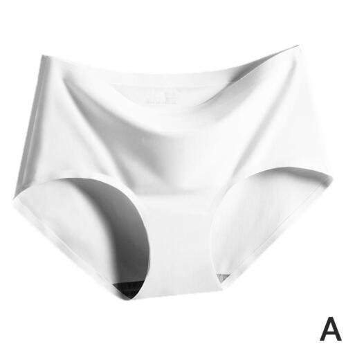 Frauen nahtlose Höschen Ice Silk Mid Waist Slips Knickers Unterwäsche 1x