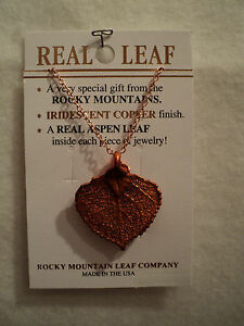 GENUINE-ROCKY-MOUNTAIN-ASPEN-LEAF-NECKLACE-COPPER-NEW