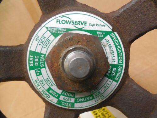"""Flowserve//Vogt Gate Valve 40406-1R20 1-1//4/"""" NPT 13CR 800 1975 PSI 13CR-HF New"""