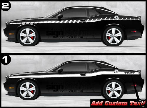 2009 2010 11 12 13 14 15 Dodge Challenger Retro Decal Stripes CUSTOM graphics