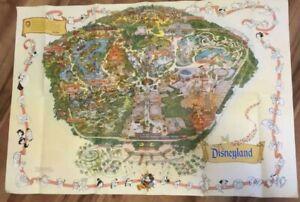 Walt-Disneyland-Large-Wall-Map-Guide-Sign-Poster-Disney-Vintage-27-x-39-Mickey