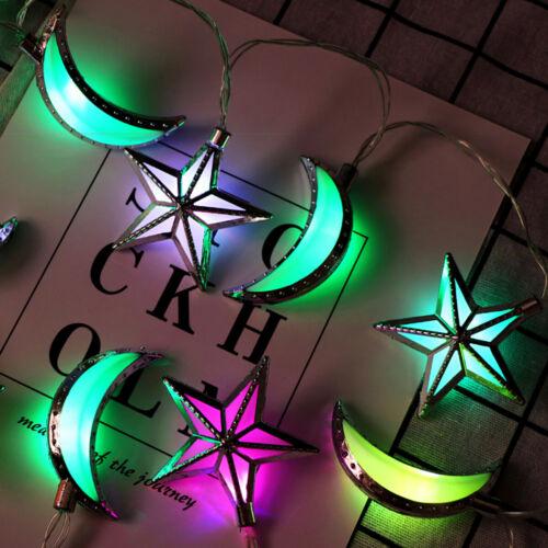 Ramadan Mubarak 10X LED Multicolor String Fairy Lights Muslim Islamic Home Decor