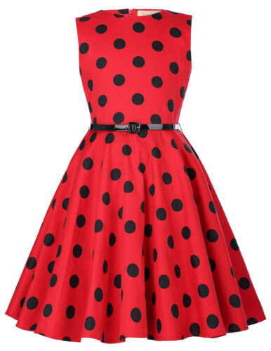 Girl Retro 50s Floral Evening Cocktail Birthday Party Gown Swing Dress 6-12 Yrs