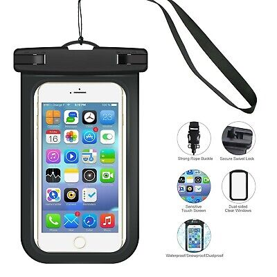 promo code 0d905 7f9a8 Universal Waterproof Underwater Phone Case Dry Bags Pouch UK All  Smartphones New | eBay