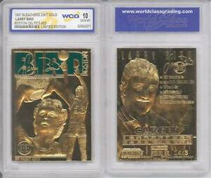 LARRY-BIRD-23KT-Gold-Card-Sculptured-1997-Boston-Celtics-Graded-GEM-MINT-10