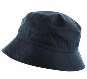 44dea7b0d50cd6 RAF BLUE BUCKET HAT COTTON Mens size Navy hiking sun cap travel ...