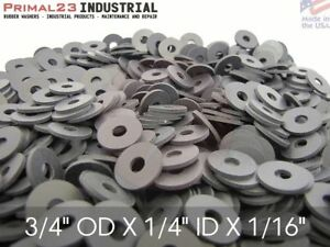 60 Duro Primal23 Industrial Endeavor Series Rubber Washers 100 Pack Neoprene Rubber Washers 1 1//4 OD x 5//16 ID x 1//16 Thickness