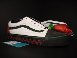 991ac7ac0b VANS OG OLD SKOOL LX BODEGA SUB ROSA ROSE WHITE BLACK RED GREEN ...