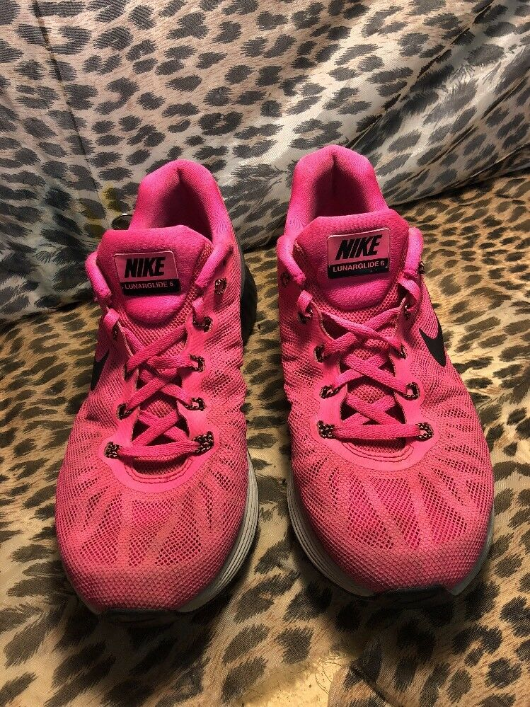 Cheap women's shoes women's shoes NIKE LUNARGLIDE 6 RUNNING SHOES MEN SIZE US 8 PINK BLACK 654433 600