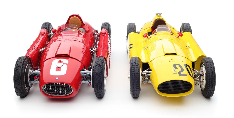 CMC 1 18 BUNDLE CMC Ferrari D50 (yellow) and CMC Lancia D50 (red) ITEM M-184