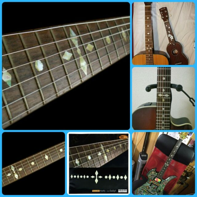 Diamond BLACK PEARL Fret Markers Diamonds Inlay Decals for Maple Neck GUITAR