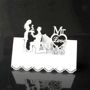 50pcs-Romantique-Blanc-Mr-Mrs-Marque-Place-Decoration-de-Table-Mariage