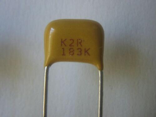 0.018uF 10/% 200V X7R Radial Ceramic Caps lots 10 pc