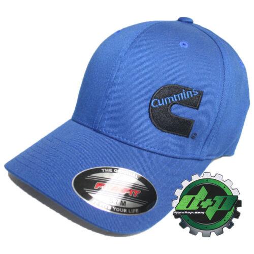 Dodge Cummins hat ball cap fitted flex fit flexfit stretch ram cummings blue s//m