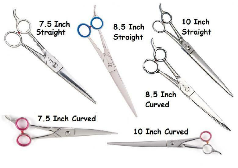 7-1//2-Inch Geib Super Gator Stainless Steel Pet Straight Grooming Shears