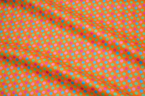 Quilt Cotton Fabric Chic Scandinavian Big Polka Dot Orange Fat Quarter Half Yard