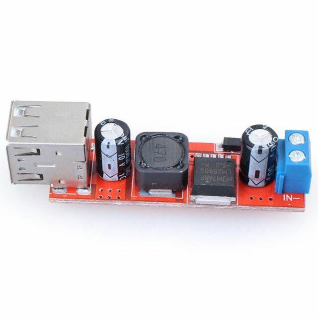 Double Usb 9V / 12V / 24V / 36V A 5V Convertisseur Dc-Dc 3A, Module D'Alimen J02