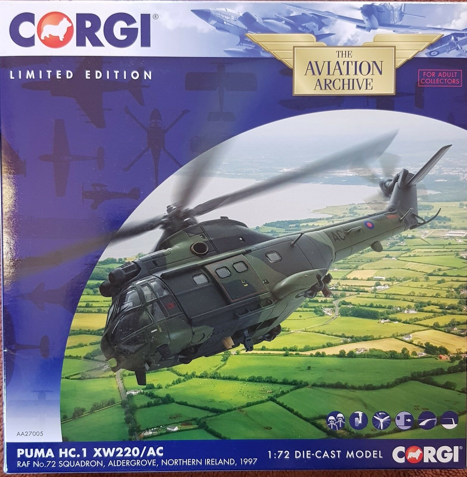 Corgi Aviation Puma HC.1 XW220 AC RAF No.72 Sqn Aldergrove N.Ireland1997 AA27005