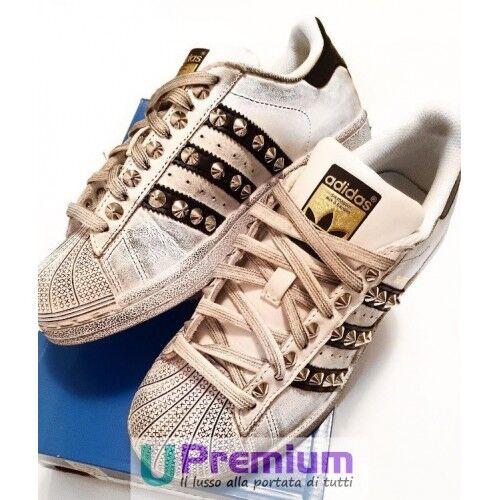 Adidas Superstar Borchiate [Prodotto Effetto Invecchiato 80s [Prodotto Borchiate Customizzato] Scarp 9e245b