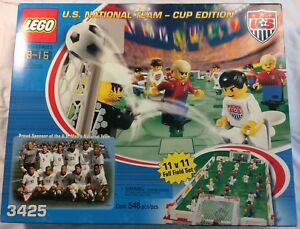 Lego 3425 soccer us national team cup edition w box usa vs germany.