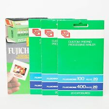 (4) Fujichrome 35mm 20 exp Slide Processing Mailer Fuji Film - Prepaid Pre