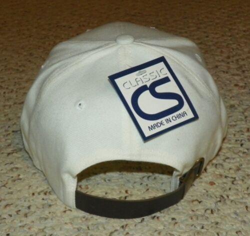 BASEBALL CAP PLAIN WHITE LEATHER STRAP ADJUSTABLE BASEBALL HAT