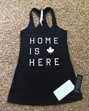 NWT Lululemon Home Is Here Cool Racerback CRB SZ 10 Black - READ SHIP