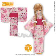 item 6 Azone Pureneemo PNS Yukata set Young girl cherry tree Pink Blythe  Obitsu 1 6 -Azone Pureneemo PNS Yukata set Young girl cherry tree Pink  Blythe ... 58855d3ef