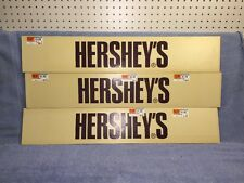 (3) Hershey's Chocolate Wooden Grocery Store Header Panels w/ Price Stickers!