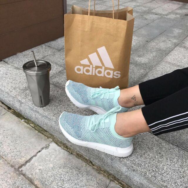 cheap for discount 0ead7 7e23b Adidas Originals Swift Run PK CG4137 Primeknit Ice Blue/Whit Women Running  Shoes