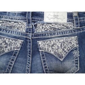 NEW-Miss-Me-Jeans-Signature-Slim-Bootcut-With-Embellished-Back-Pockets-Bling-27