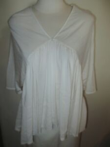 ZARA-Women-039-s-High-Low-Top-Shirt-Blouse-Size-S-Small-Off-White-New-NWT