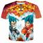New-Women-Men-Dragon-Ball-Z-Vegeta-Goku-Super-Saiyan-Print-Casual-3D-T-Shirt-Tee thumbnail 17