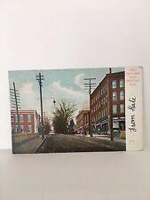Bristol, CT 1907 Postcard: UPPER Main Street  Conn