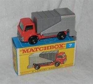 1960 S. Lesney Matchbox .7, Ford Refuse. Camion. Ordures. Trash. Comme Neuf In Box; Original-d Refuse.truck.garbage.trash.mint In Box;original Fr-fr Afficher Le Titre D'origine Bon Pour L'éNergie Et La Rate