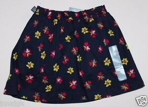 baby Gap NWT Girl's 3T Navy Blue Floral 100% Cotton Skirt w/ Cotton Voile Lining