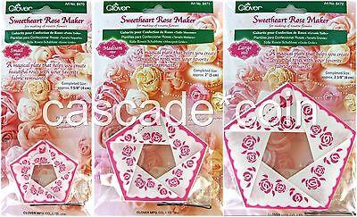 Sweetheart Rose Rosette Flower Maker Templates Reusable 3 Sizes S M L Clover®