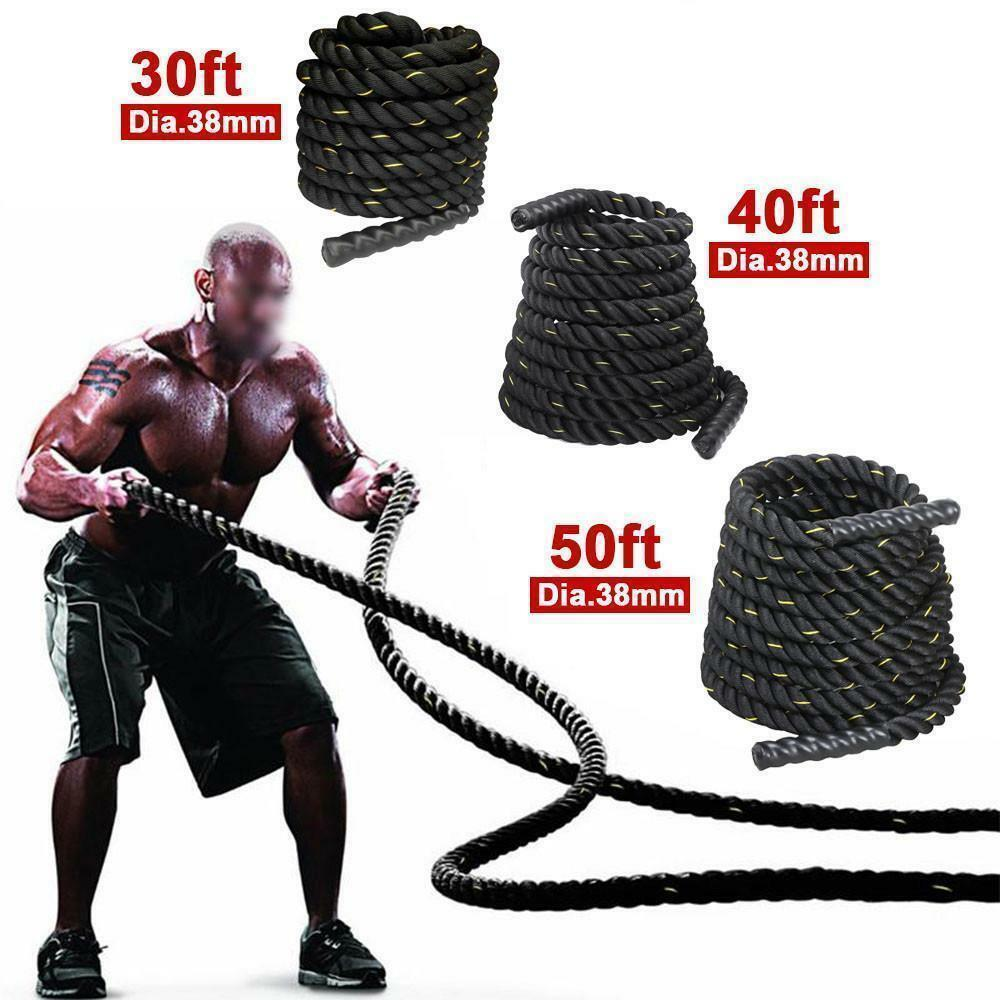 1.5  30 40 50ft Undulation Battle Power Rope Exercise Workout Strength Bootcamp