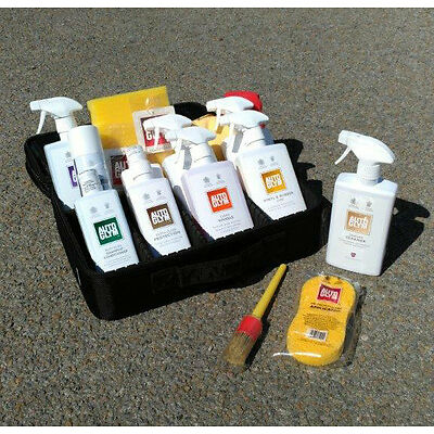17pc AUTOGLYM Perfect Valet Cleaning Bag Kit w/ Protective Case Organizer BLACK