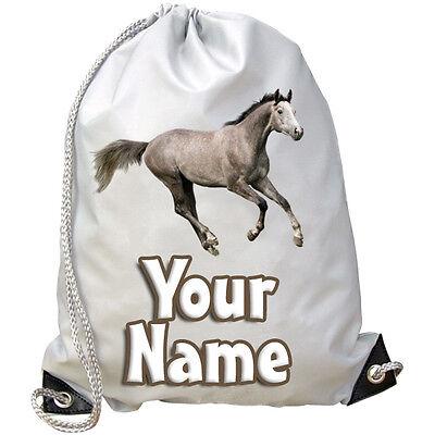 PALOMINO HORSE PONY PERSONALISED GYM SWIMMING BAG **NAMED GIFT** PE DANCE