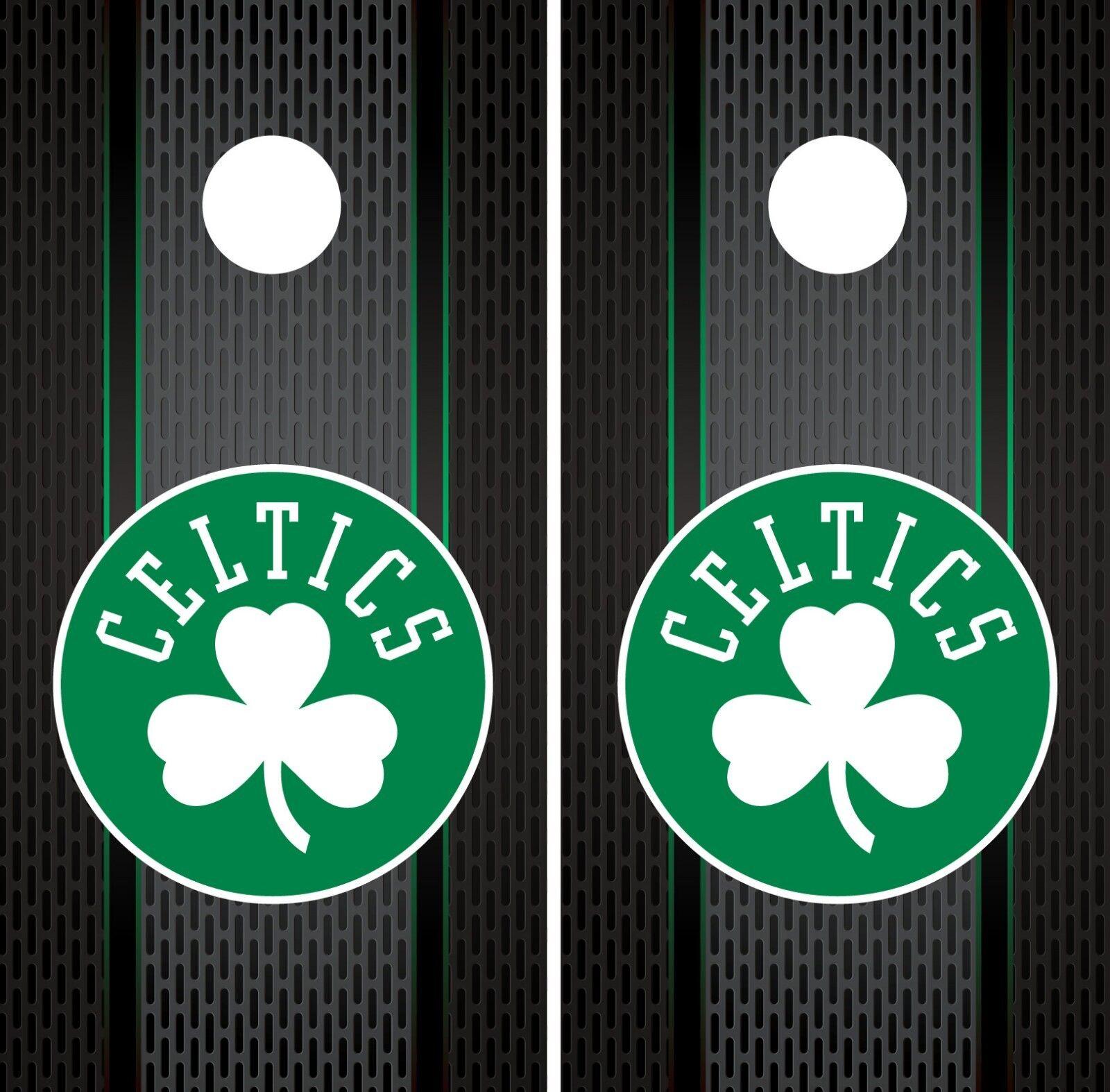Boston Celtics Cornhole  Wrap NBA Game Board Skin Set Vinyl Decal Art CO561  best prices and freshest styles